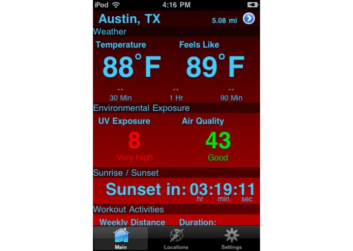 Outdoor Dashboard – screenshot 1
