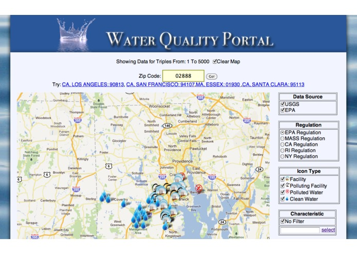 SemantAqua Water Quality Portal – screenshot 1