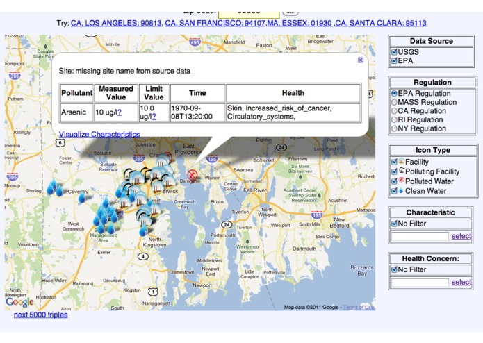 SemantAqua Water Quality Portal – screenshot 2