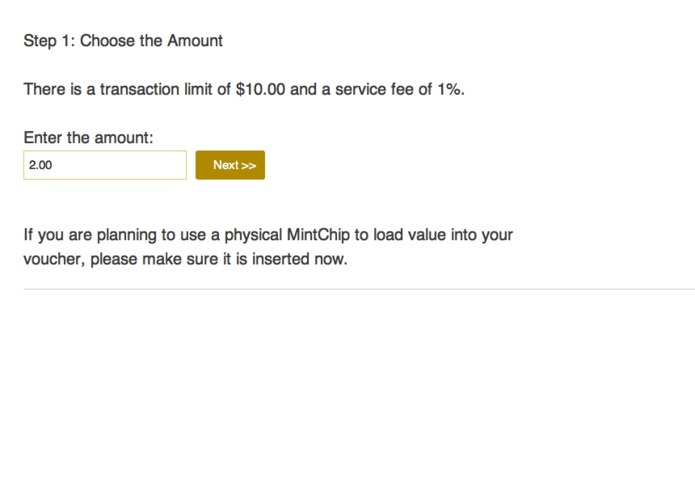 MOCHA - MintChip Offline Cash Handling Application – screenshot 2