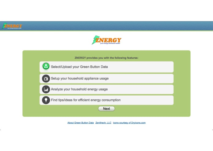 ZNERGY – your energy estimation toolkit. – screenshot 2