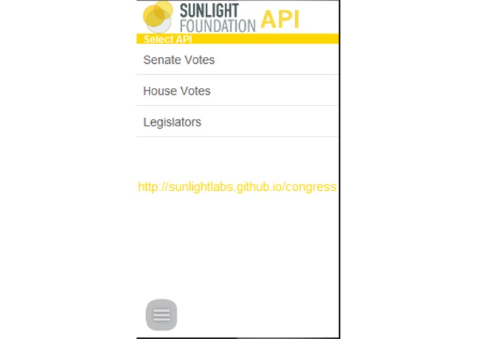 Sunlight Congress API – screenshot 1
