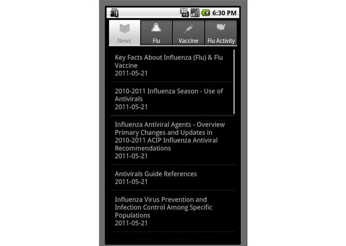 Flu Guide App For Android – screenshot 1