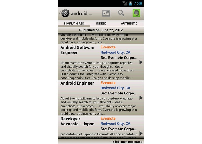GetAJob – screenshot 1