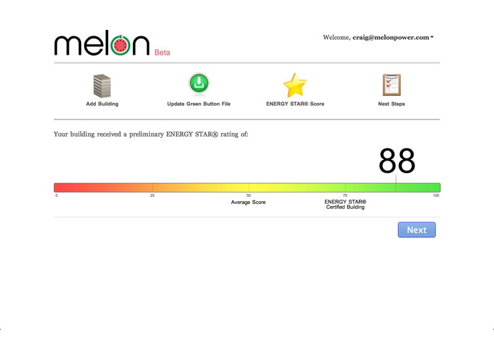 Melon: ENERGY STAR Green Button Benchmark – screenshot 2