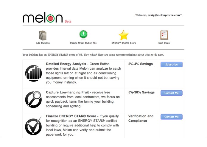 Melon: ENERGY STAR Green Button Benchmark – screenshot 3