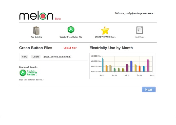 Melon: ENERGY STAR Green Button Benchmark – screenshot 4