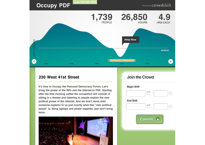 crowdshift – screenshot 1