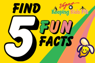 """Keeping Kids Fit """"Find 5 Fun Facts"""""""