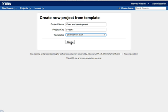Project creator for JIRA