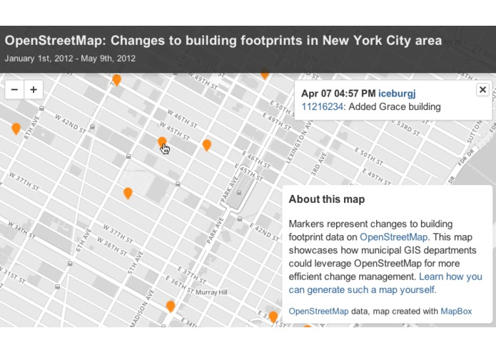 OpenStreetMap Change Tracker – screenshot 1