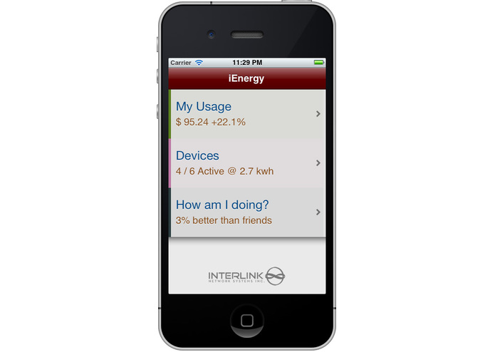 iEnergy – screenshot 1