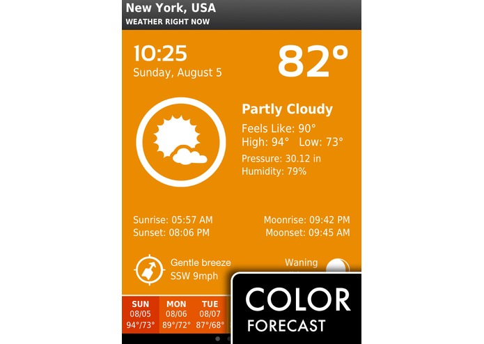 ClearWeather for iPhone – screenshot 1