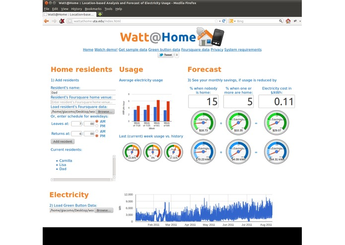 Watt@Home – screenshot 1