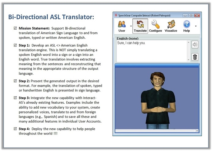 Bi-directional Sign Language Translator – screenshot 1