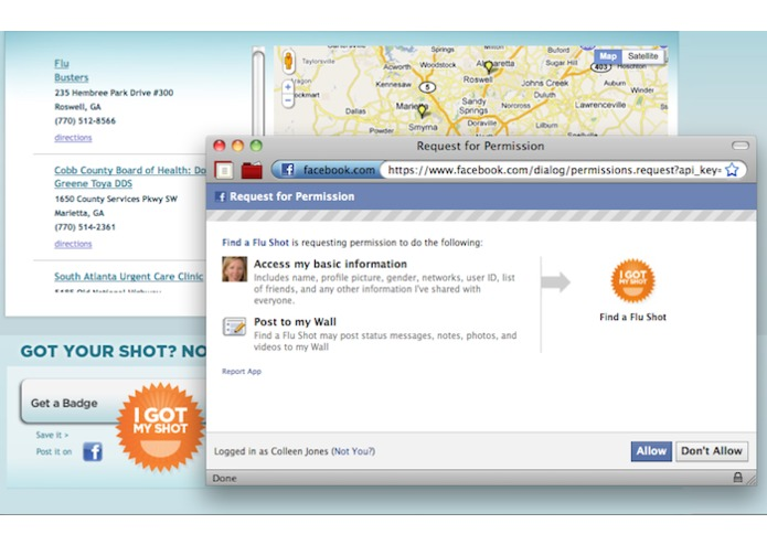 Flu Shot Finder for Web + Mobile – screenshot 1