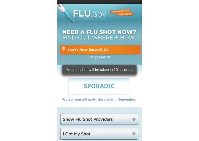 Flu Shot Finder for Web + Mobile – screenshot 2