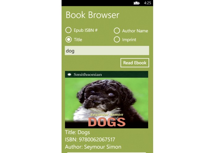 BookBrowser – screenshot 3