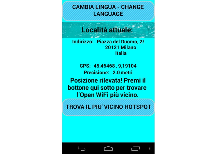 Open WiFi Milano – screenshot 2