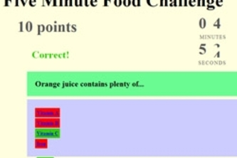Five Minute Food Challenge