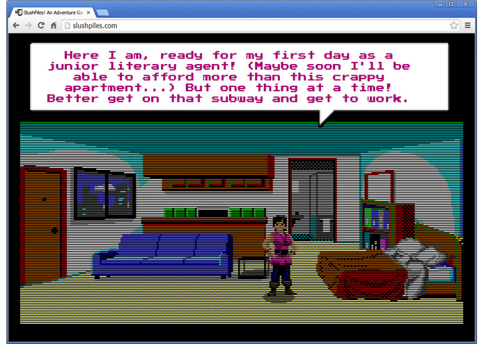 SlushPiles! An Adventure Game of Literary Agentry – screenshot 2
