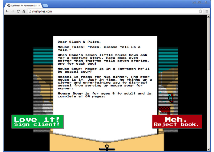 SlushPiles! An Adventure Game of Literary Agentry – screenshot 5