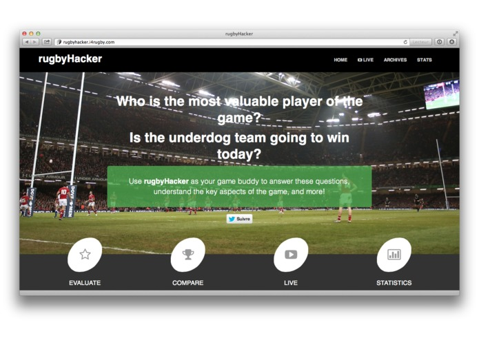 rugbyHacker – screenshot 1