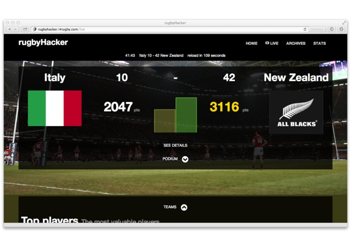 rugbyHacker – screenshot 2