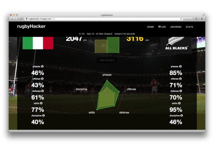 rugbyHacker – screenshot 3