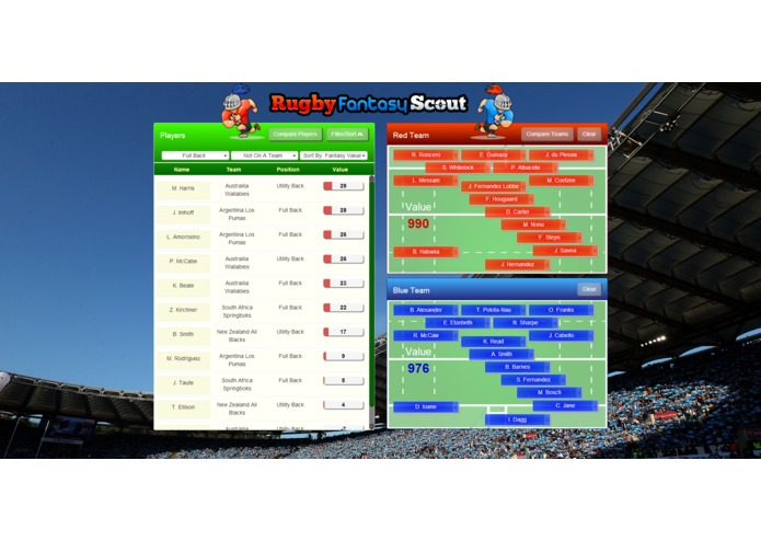 Rugby Fantasy Scout – screenshot 1