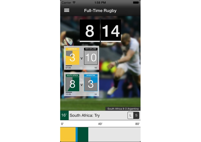 Full-Time Rugby – screenshot 1