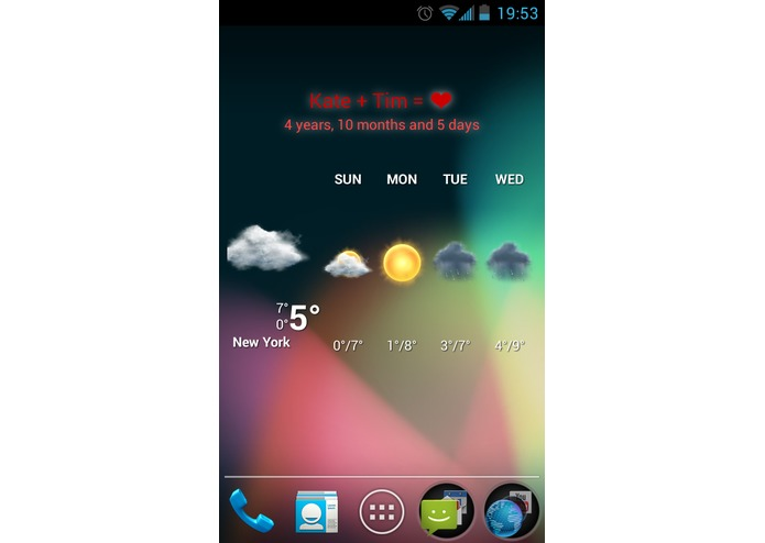 Love widget – screenshot 1