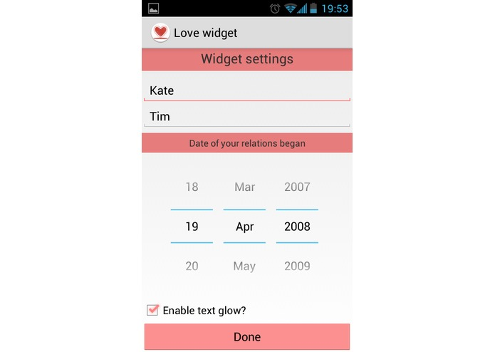 Love widget – screenshot 3