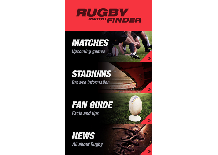 Rugby Match Finder – screenshot 1