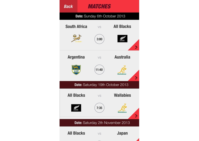 Rugby Match Finder – screenshot 2