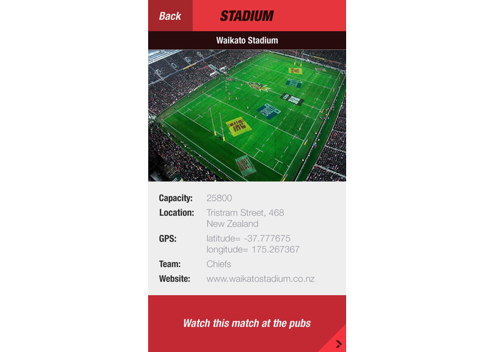 Rugby Match Finder – screenshot 3