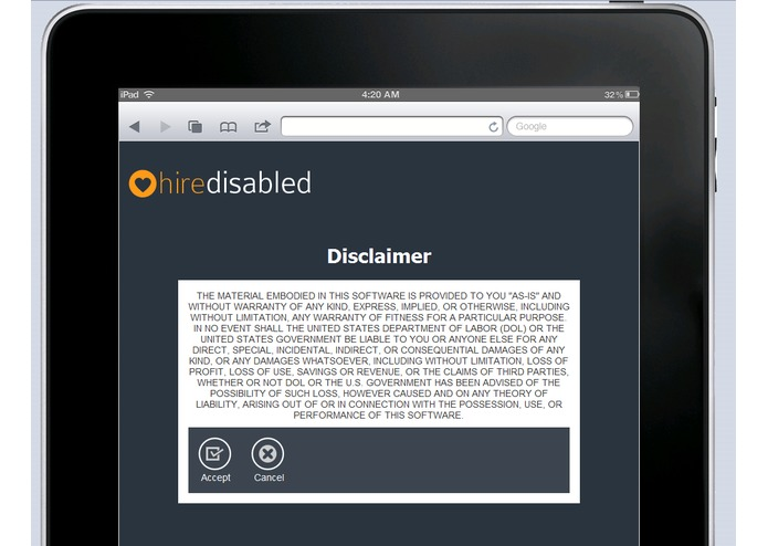 Hire Disabled – screenshot 3