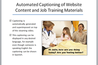Automated Captioning of Website Content and Job Training Materials