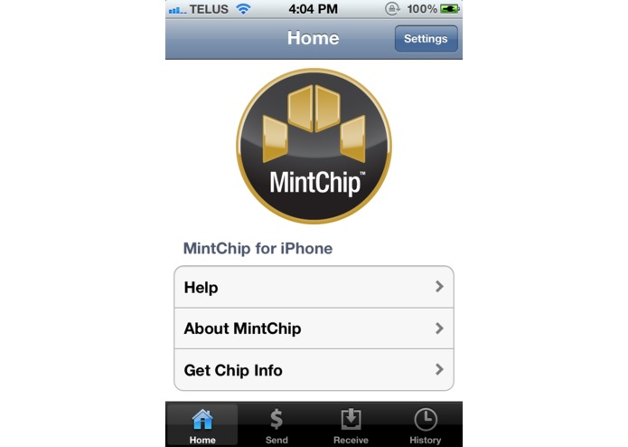 MintChip for iPhone – screenshot 1
