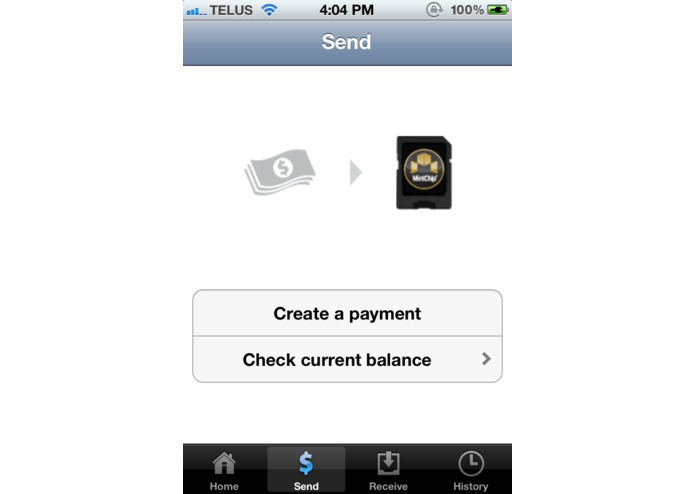 MintChip for iPhone – screenshot 2