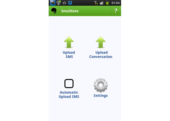 SMS2Note – screenshot 2