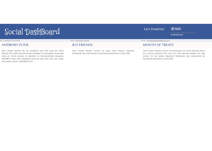 SocialDashboard – screenshot 2