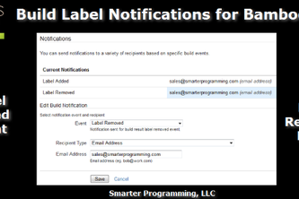 Build Label Notifications for Bamboo