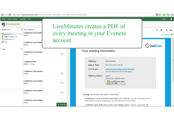 LiveMinutes: remember every meeting! – screenshot 4