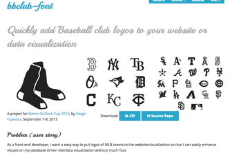 bbclub-font and its demo using Sports Data LLC API