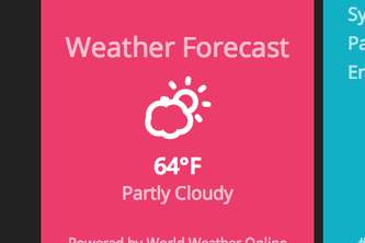 Weather Widget - World Weather API/Skycons