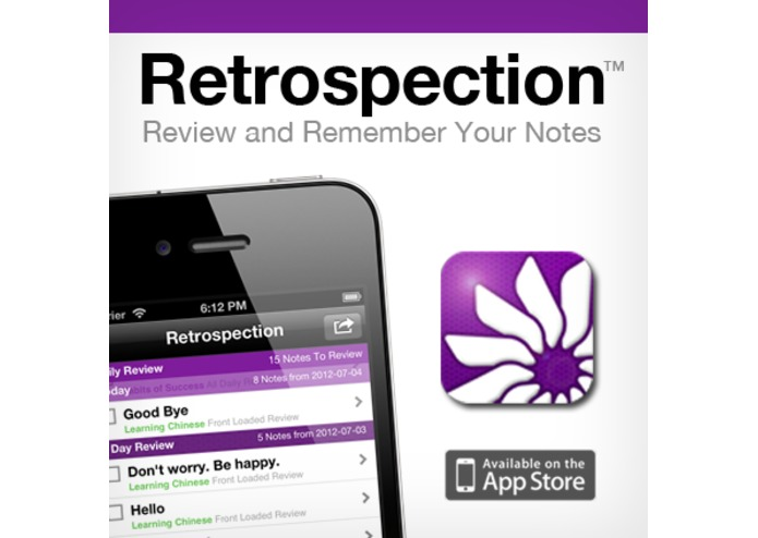 Retrospection (iOS App for Reviewing and Remembering Your Notes) – screenshot 1