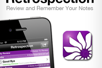 Retrospection (iOS App for Reviewing and Remembering Your Notes)