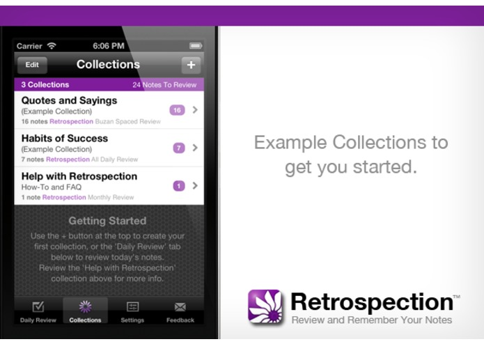 Retrospection (iOS App for Reviewing and Remembering Your Notes) – screenshot 3