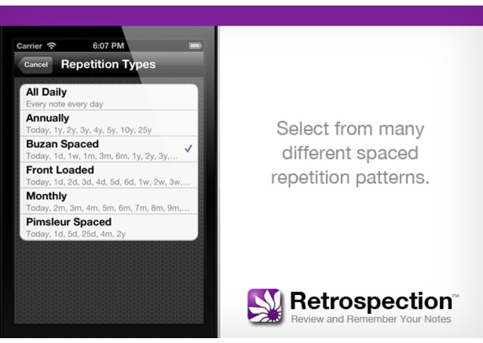 Retrospection (iOS App for Reviewing and Remembering Your Notes) – screenshot 5